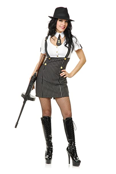 eea0141f21473 Charades Gangster Girl Costume  Amazon.ca  Clothing   Accessories