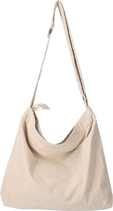 America Hand Womens Canvas Hobo Handbags Shoulder Bag Tote Bag