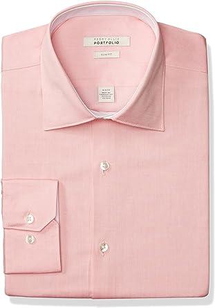 Perry Ellis Hombre PEM153-A0408 Cuello Tipo Italiano Camisa ...