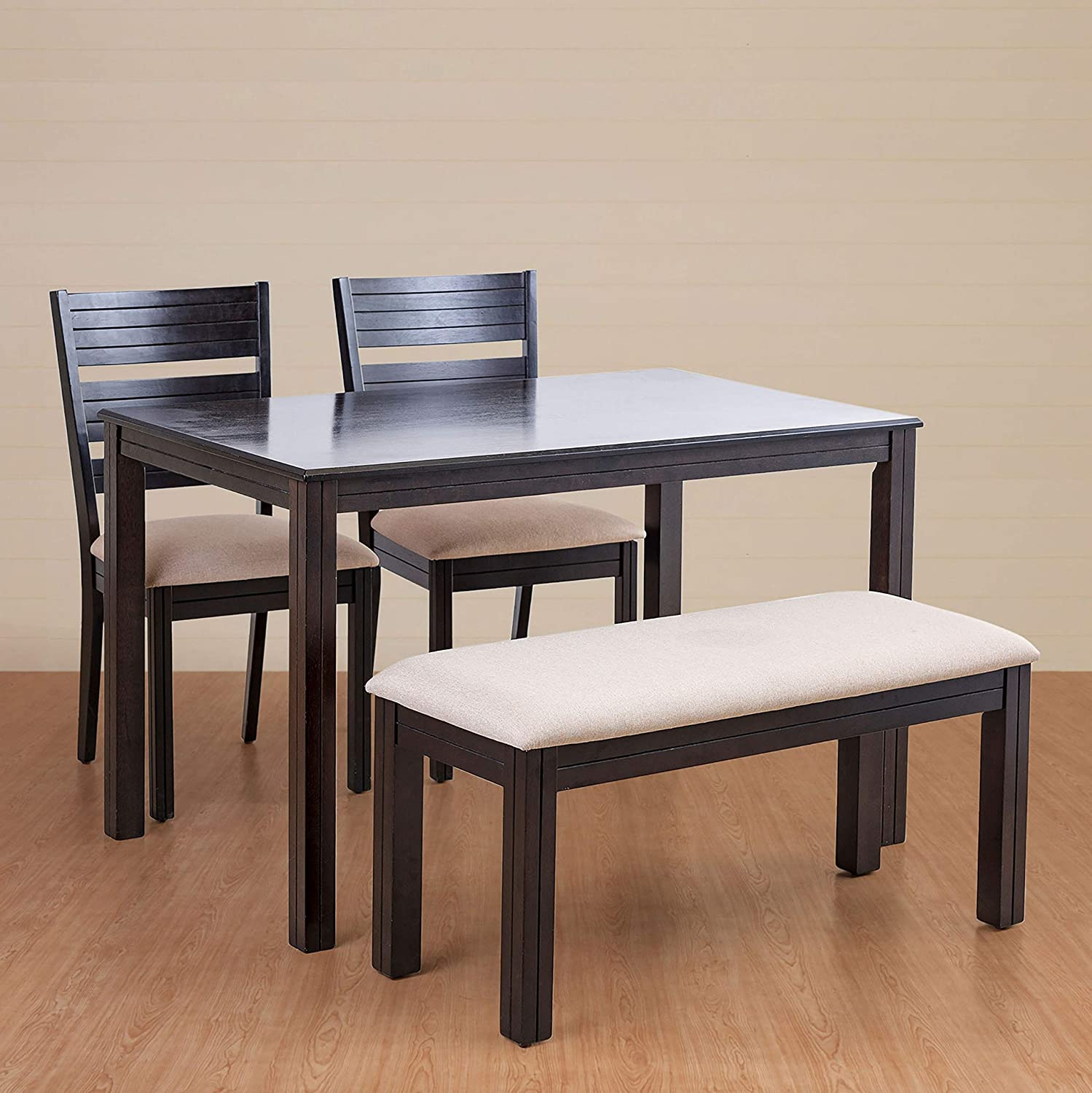 Home Centre Montoya 4 Seater Dining Table Set With Chair And Bench Amazon In Home Kitchen