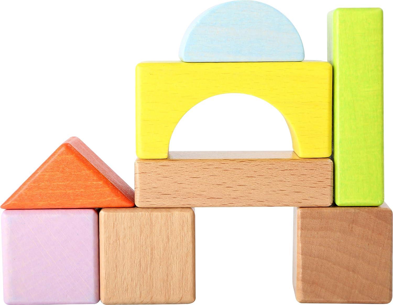 Briques Standard 75 /él/éments en Bois Naturel de Haute qualit/é Small Foot 10338 Cubes de Construction Classiques