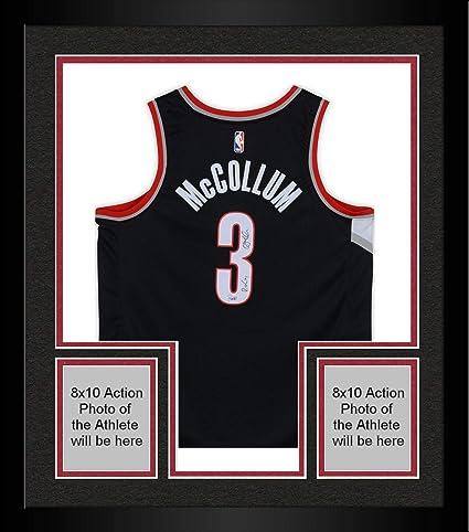 sale retailer fd785 aeadb Framed C.J. McCollum Portland Trail Blazers Autographed Nike ...