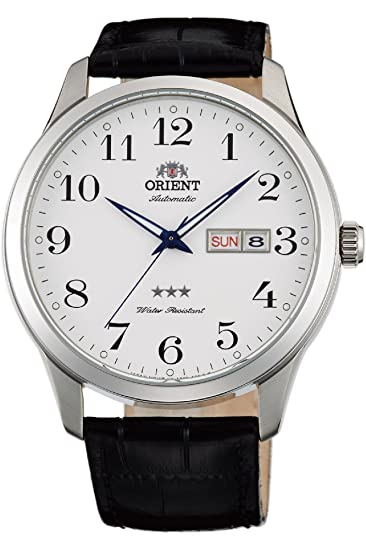 Amazon.com: Orient 3 Star Watch FAB0B004W9 - Leather Gents Automatic Analogue: Watches
