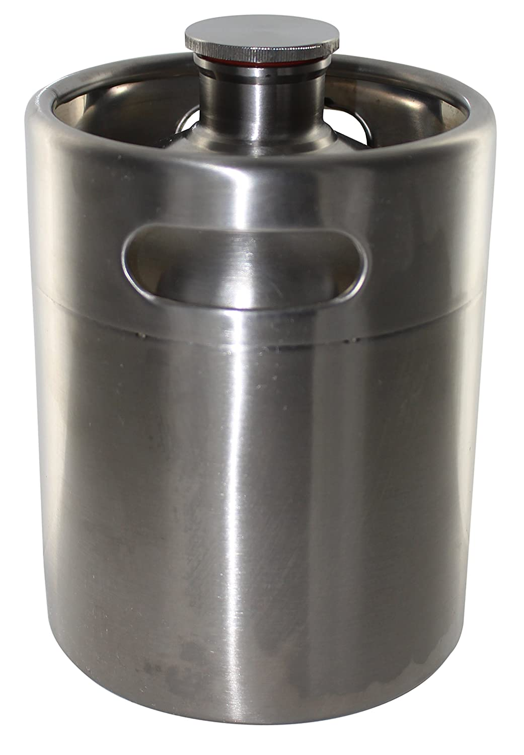 Brewhouse Keg Style Stainless Steel Beer 64 oz. Mini Keg Growler Home Brew Ohio Bs0097