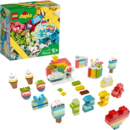 LEGO DUPLO Classic Creative Birthday Party 10958 Imaginative Building Fun for Toddlers; Creative Toy Gift for Kids, New 2021 (200 Pieces)
