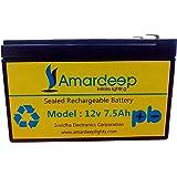 Amardeep and Co Amptek 12V 7.5AH/12V 7AH/12V 7.2AH Maintenancefree UPS/Inverter Battery