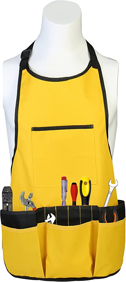 Waterproof Oxford Garden Apron Tools Aprons Bag with Pockets for Woodworker