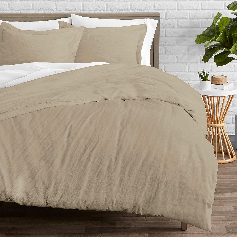 Bare Home 3 Piece Duvet Cover and Sham Set 1800 Ultra-Soft Brushed Microfiber