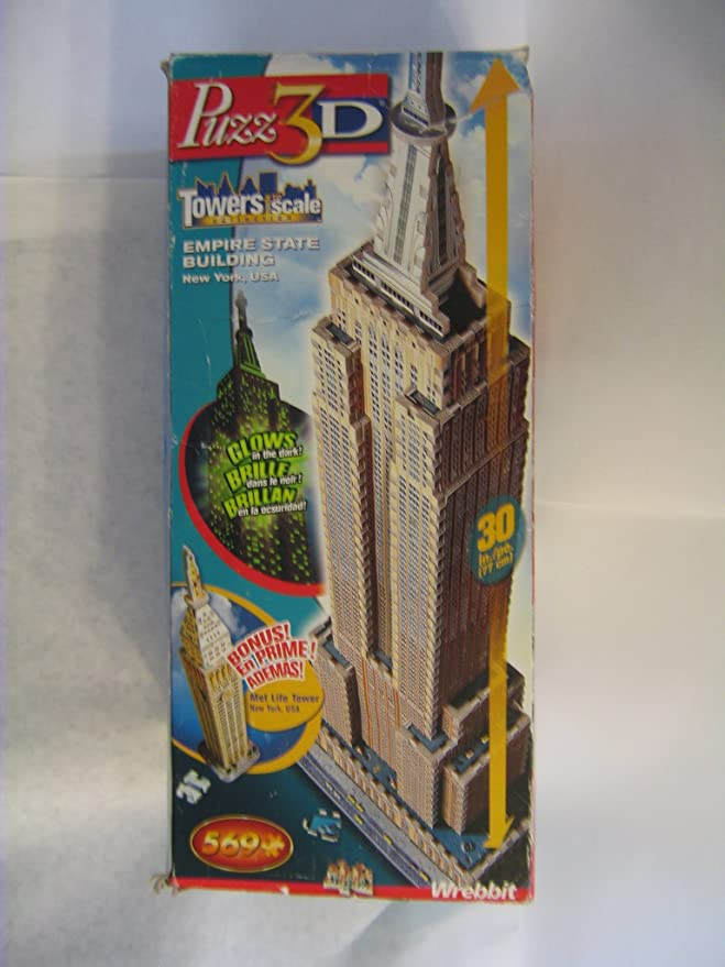 HTF Wrebbit puzz 3D puzzle Towers Petronas Tower Glow in the Dark Sealed NEW