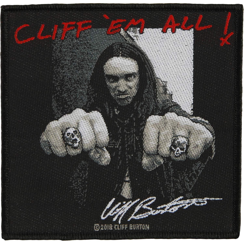 Metallica Cliff em all Patch Mehrfarbig