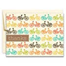 20 Thank You Greeting Cards - Fun Pop Hued Bicycles on Cream - Nancy by Two Poodle Press