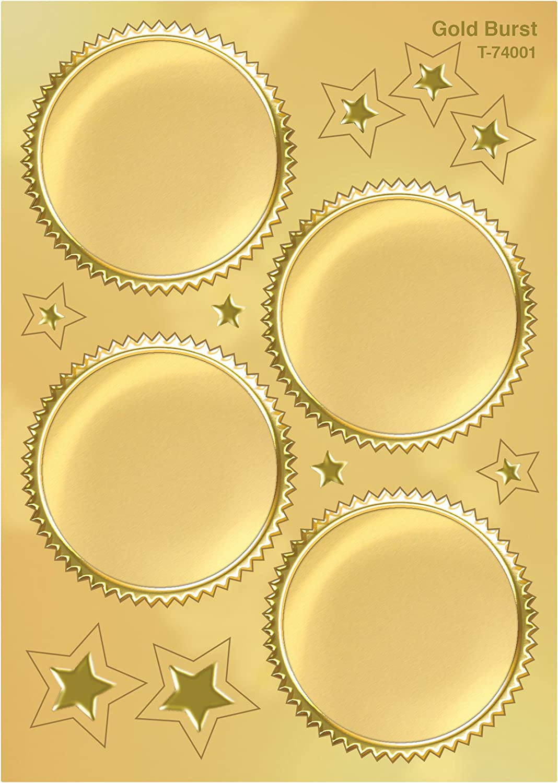 Inc Gold Burst Award Seals Stickers 32 ct. TREND enterprises
