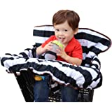 """Lumiere Shopping Cart Cover for Baby - Universal Fit, """"Roll-in"""" Style Pouch, 360 Germ Protection, Machine Washable"""