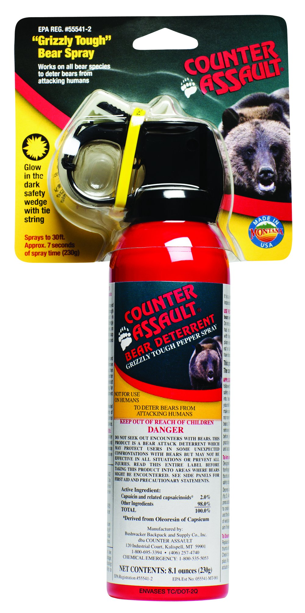 Bear Deterrent 8.1 oz Net Content (230g) by Counter Assault