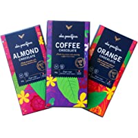 Ola Pacifica Variety 3-Pack Dark Chocolate 3 x 80g - Almond, Orange, Coffee   60% Samoan Cacao   Vegan Friendly   No…