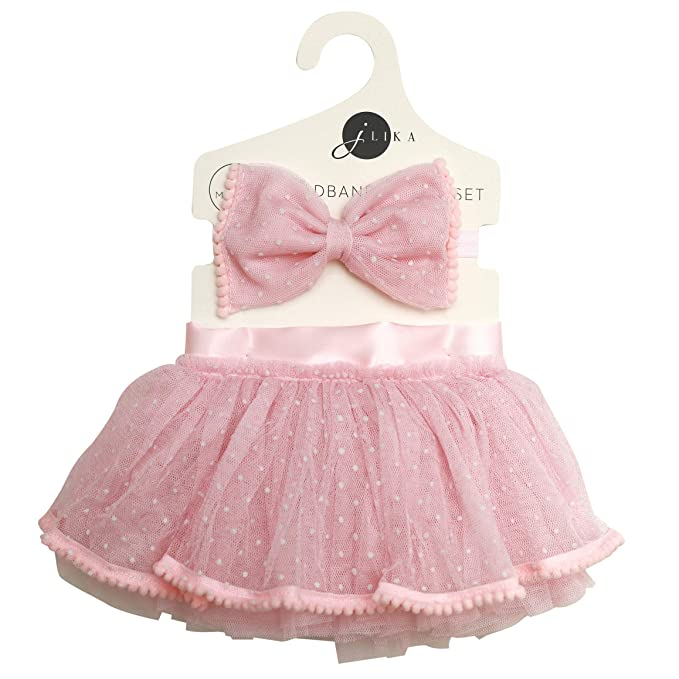 3bb428a759 Newborn Baby Girl Tutu Set Skirt with Headband Photography Prop Clothes  Easter Outfit (Pink)