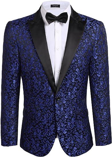 Black Floral Women/'s Evening Blazer Ladies Tux Casual Silky Jacket Top