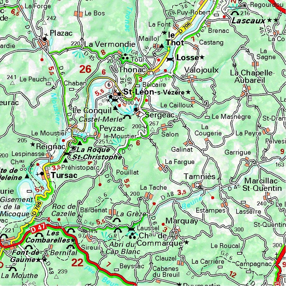 carte de la dordogne détaillée Correze, Dordogne (Departements France 329) (CARTES (999999