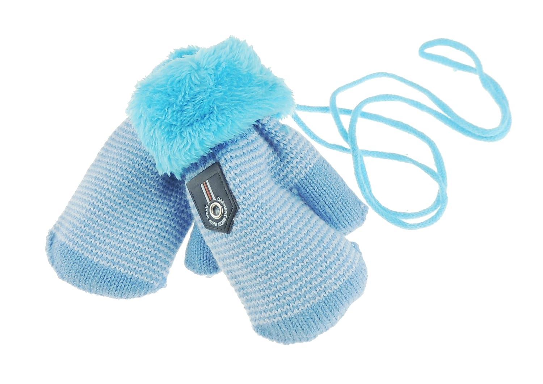 Baby Boys Warm Fleece Lined Winter Marl Snow Mittens 1-3 Years (Grey) Glamour Girlz