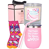 Breast Cancer Survivor Gifts for Women, Breast Cancer Survivor Gift, Breast Cancer Survivor Candle, Beat Cancer Socks, Cancer Awareness, Cancer Survivor Gift, Girl's Gift Breast Cancer Fighter Breast