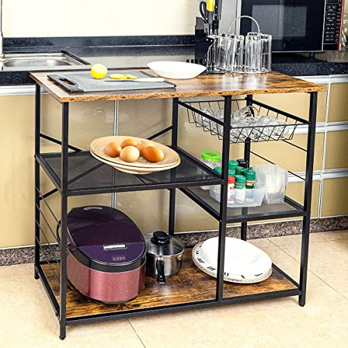 FoverOne Kitchen Baker's Rack 3-Tier Utility Storage Shelf