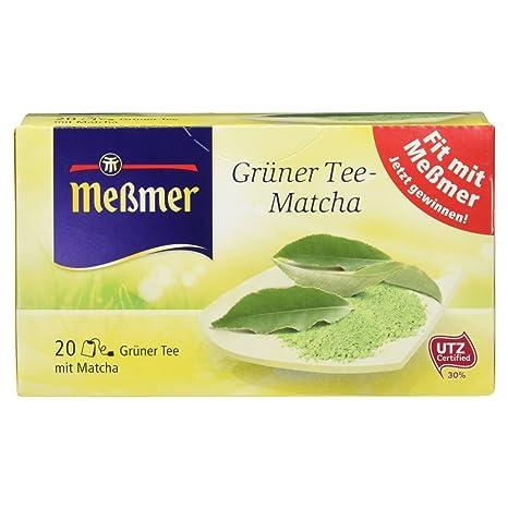 Meßmer Grüner Tee Matcha 20 Teebeutel 30 G Amazonde Lebensmittel