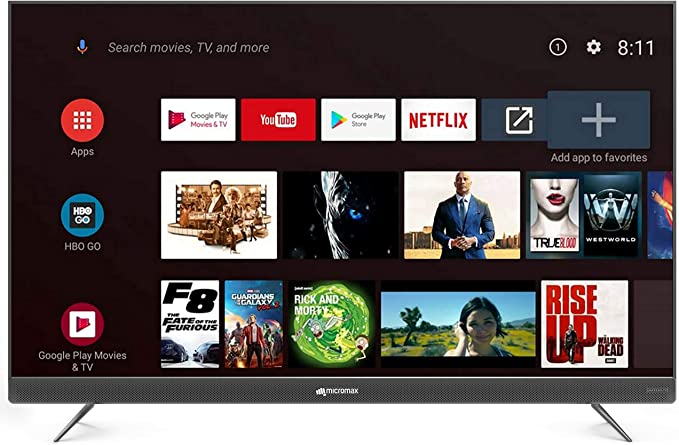 Micromax 139.7 cm  55 inches  4K UHD LED Certified Android TV L55TA7000UHD  Matte Grey  Smart Televisions