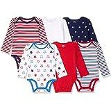 Amazon Essentials Boys' Infant 6-Pack Long-Sleeve Bodysuit