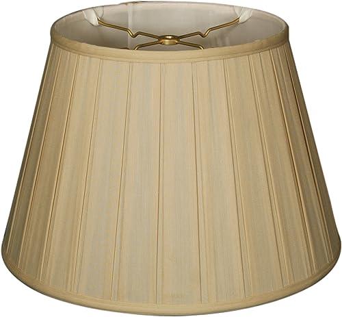Royal Designs BSO-724-18BG Empire English Pleat Basic Lamp Shade, 11 x 18 x 12 , Beige