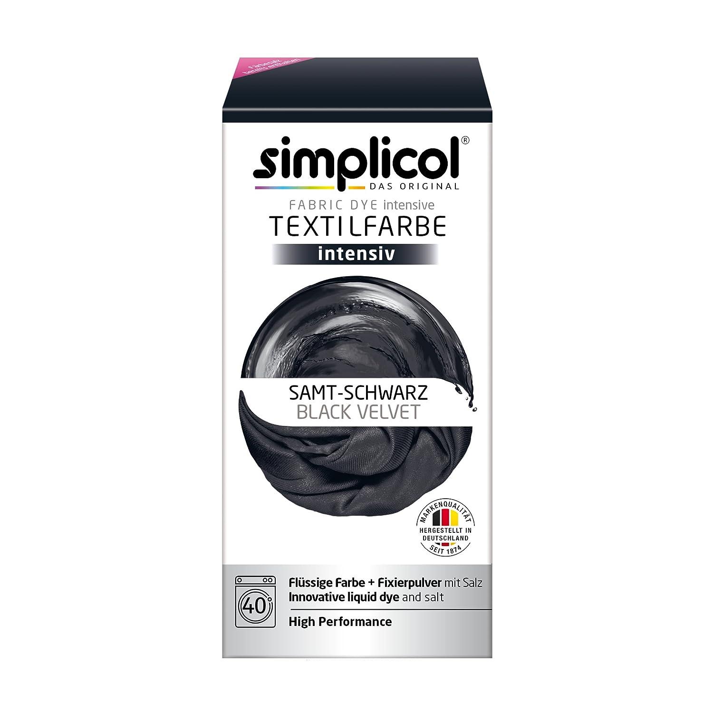 Simplicol 1818 Fácil Textil Color en la Lavadora, Polvo, Negro (Samt Schwarz 1818), 2 unidades: Amazon.es: Hogar