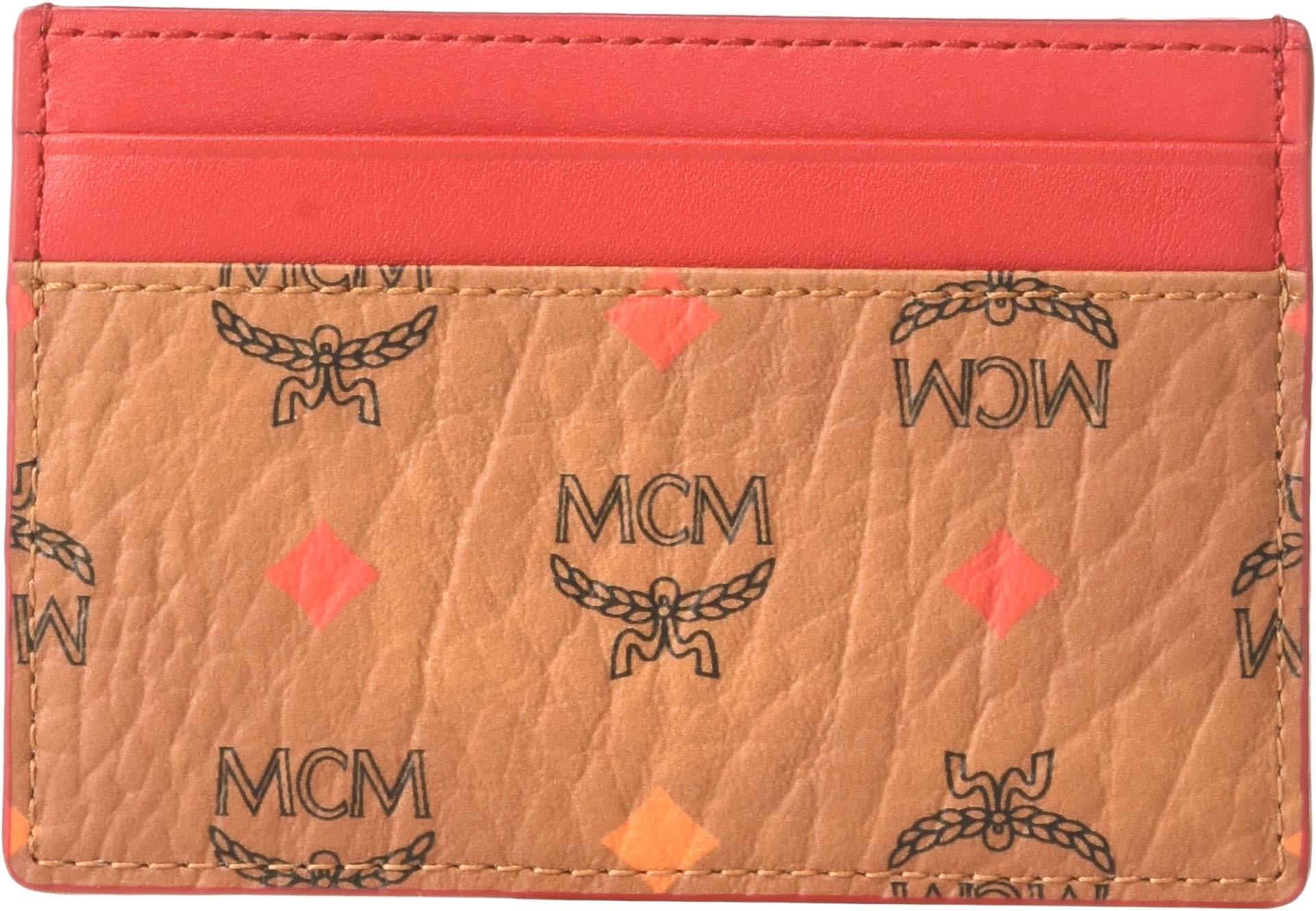 MCM Women's Spektrum Visetos Card Case Mini Spectrum Diamond Cognac One Size