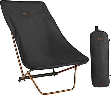 Amazon Com Kelty Linger Get Down Camp Chair Heather Black Sports Outdoors