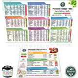 Instant Pot Cheat Sheet Magnet Set - Pressure Cooker Accessories (Large Font) Electric Pressure Cooker Times Cookbook - Insta