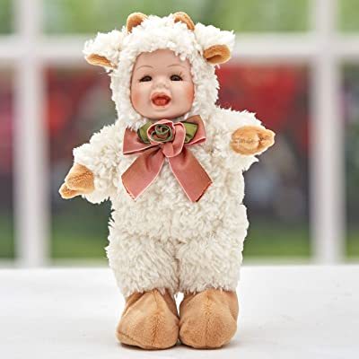 The Lakeside Collection Lamb Baby Doll with Realistic, Porcelain Face, Animal-Themed Costume: Toys & Games