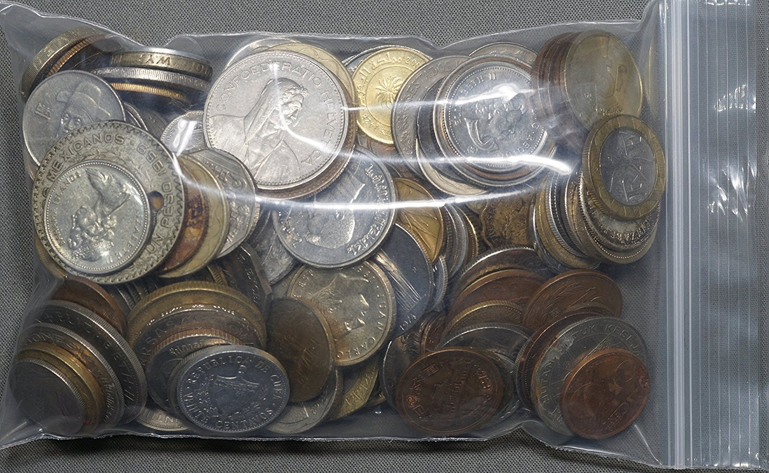 Coins and Token Grab Bag World Currency