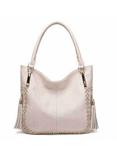 e97bca3b32 Amazon.com  MKF Collection Designer Handbags by Mia K. Farrow Fashionable  Vienna Hobo Bags for Women (Apricot)  Shoes