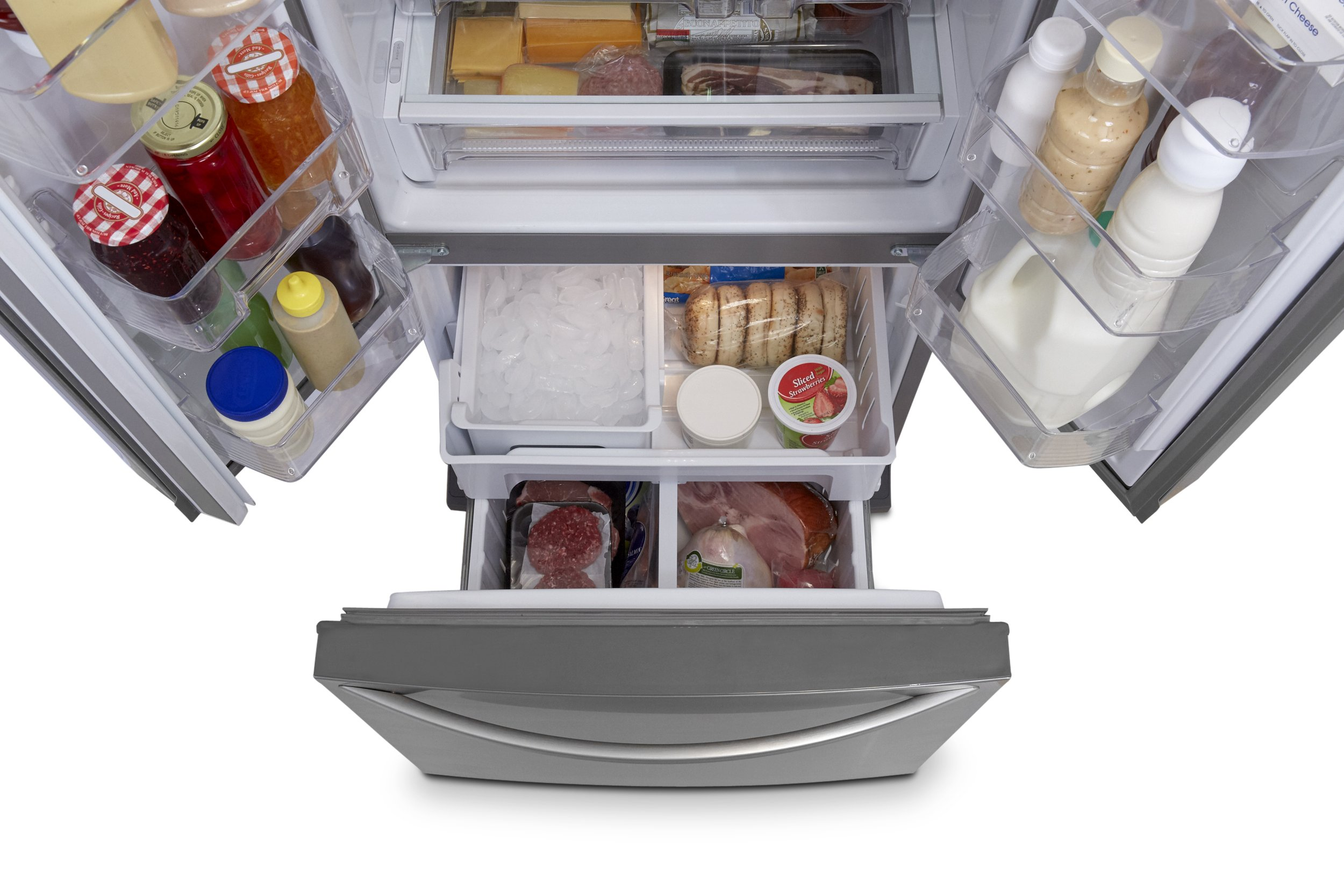Kenmore 73003 19.5 cu. ft. Non-Dispense French Door Bottom-Freezer Refrigerator in Stainless Steel, includes delivery and hookup (Available in select cities only) by Kenmore (Image #6)