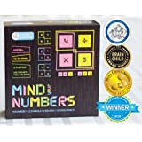 MIND YOUR NUMBERS Math Game Puzzles For Kids Of Ages 8 & Up. Gifts For Boys & Girls. Educational STEM Toys. Improves Arithmetic, Logical Thinking.