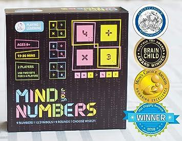 Kitki Mind Your Numbers Juego De Mesa Para Ninos Juguete Educativo