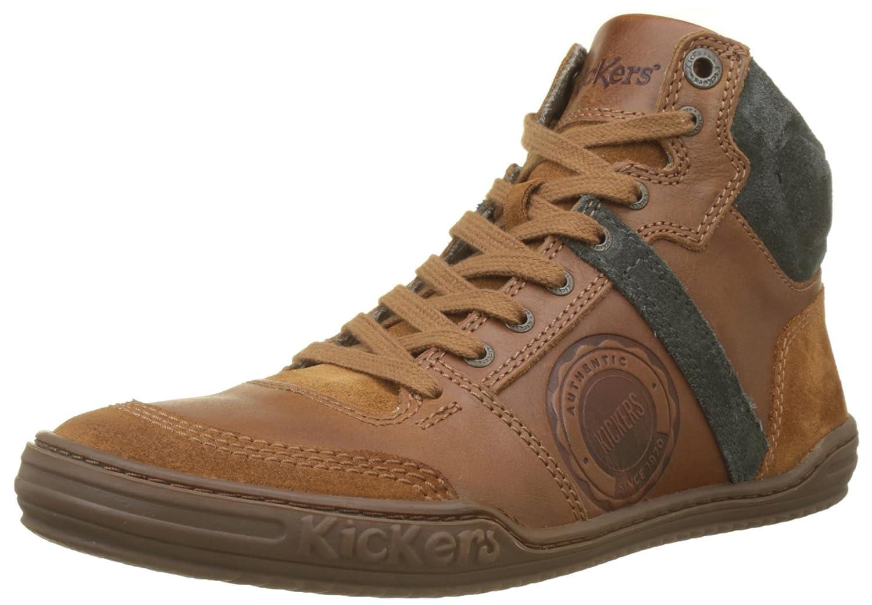Kickers Jexplorehigh, Zapatillas Altas para Hombre 41 EU|Marrón (Camel 114)