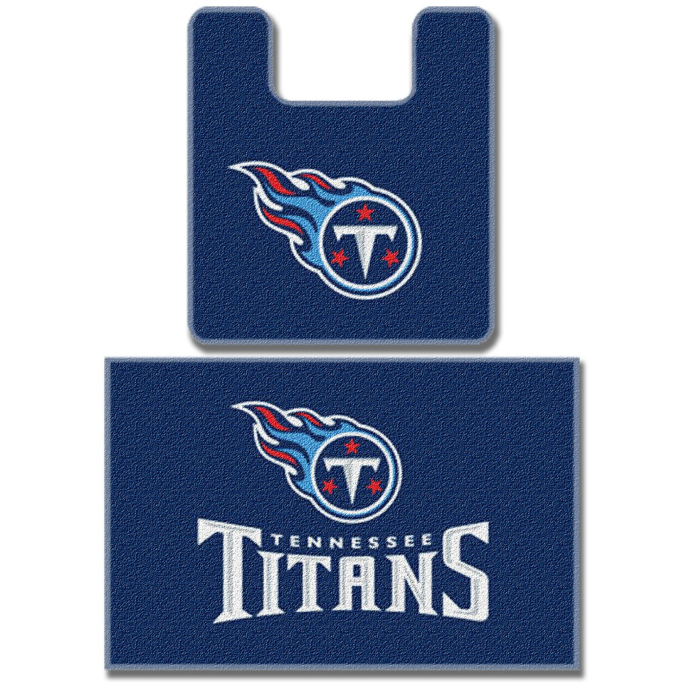Amazon.com : NFL Tennessee Titans 2-Piece Bath Mat Set : Bed And ...