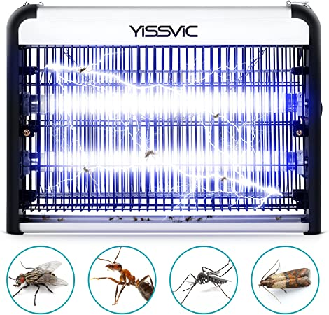 YISSVIC Bug Zapper 20W Mosquito Killer Insect Killer Indoor - Mosquito , Fly , Moth , Wasp , Beetle & Other Pests Killer Residential & Commercial Use