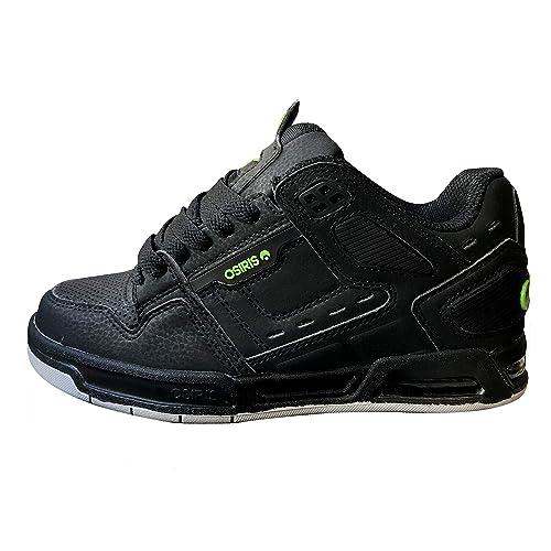 Osiris - Zapatillas de Skateboarding de Cuero para Hombre Negro Black/Lime/Grey: Amazon.es: Zapatos y complementos