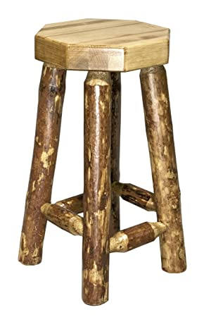 Montana Woodworks MWGCBN Glacier Country Collection Backless Barstool