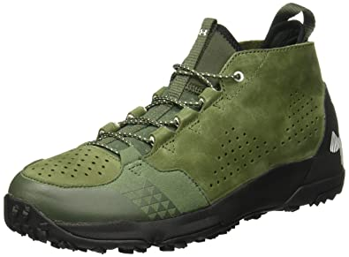 Under Armour Men's UA Burnt River Lthr Downtown Green/Black/Gray Matter  Athletic Shoe