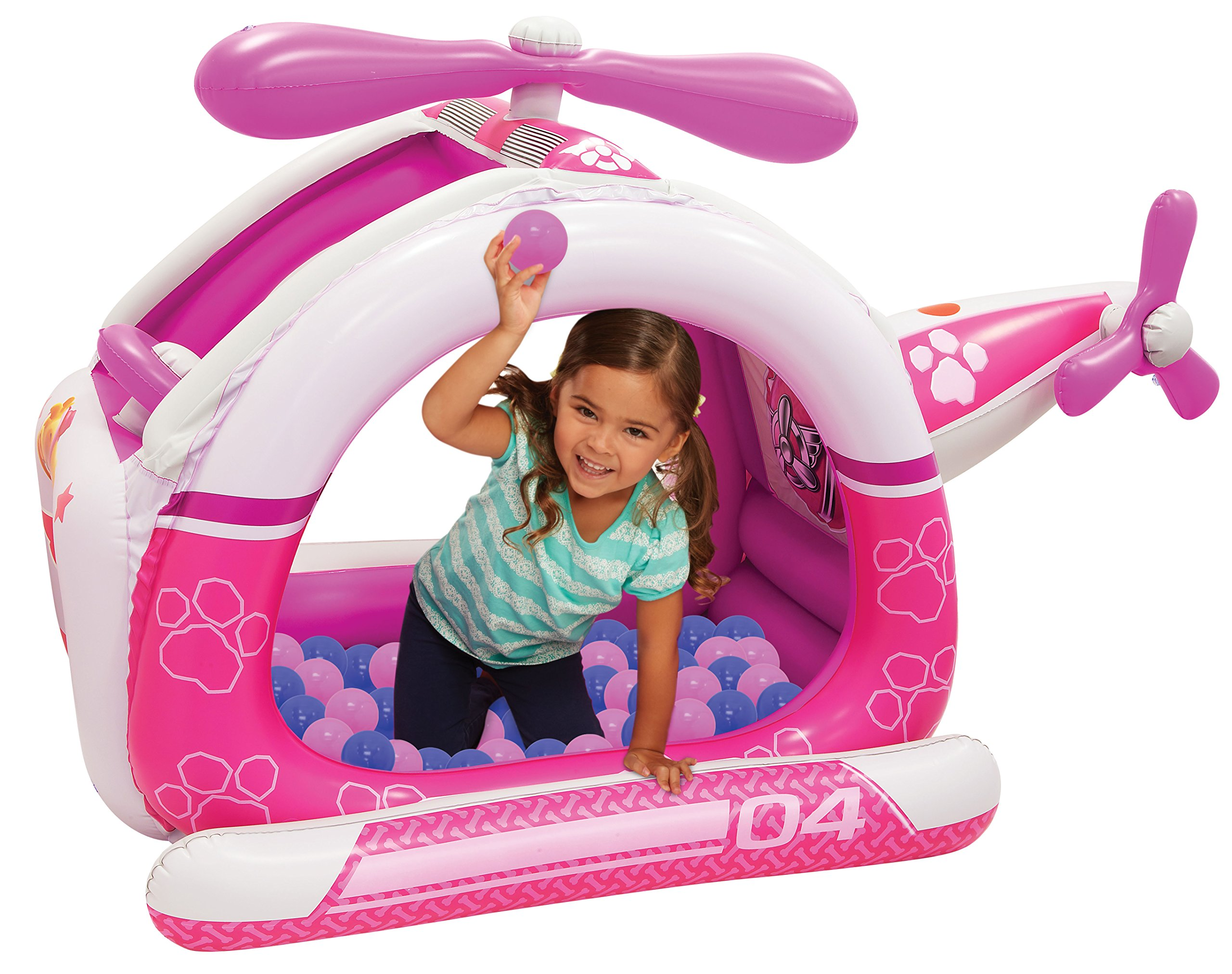 Paw Patrol Skye Helicopter Ball Pit, 1 Inflatable & 50 Sof-Flex Balls, Pink/Purple, 43''W x 43''D x 38''H