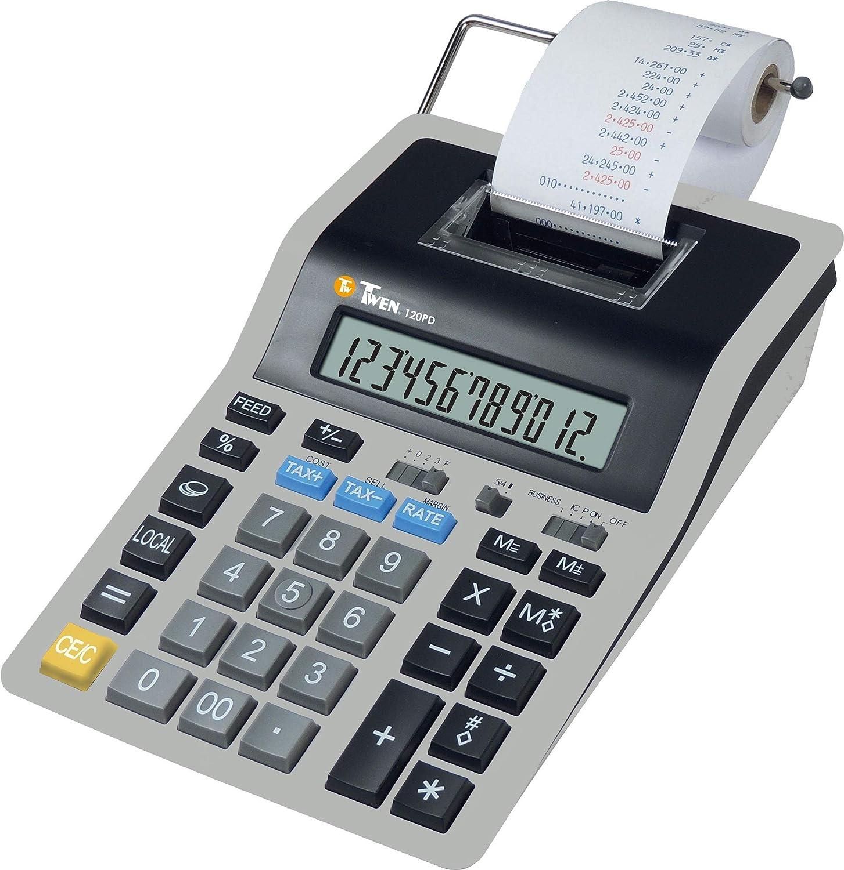 TWEN 120 PD Calculadora (Impresora: Amazon.es: Oficina y ...