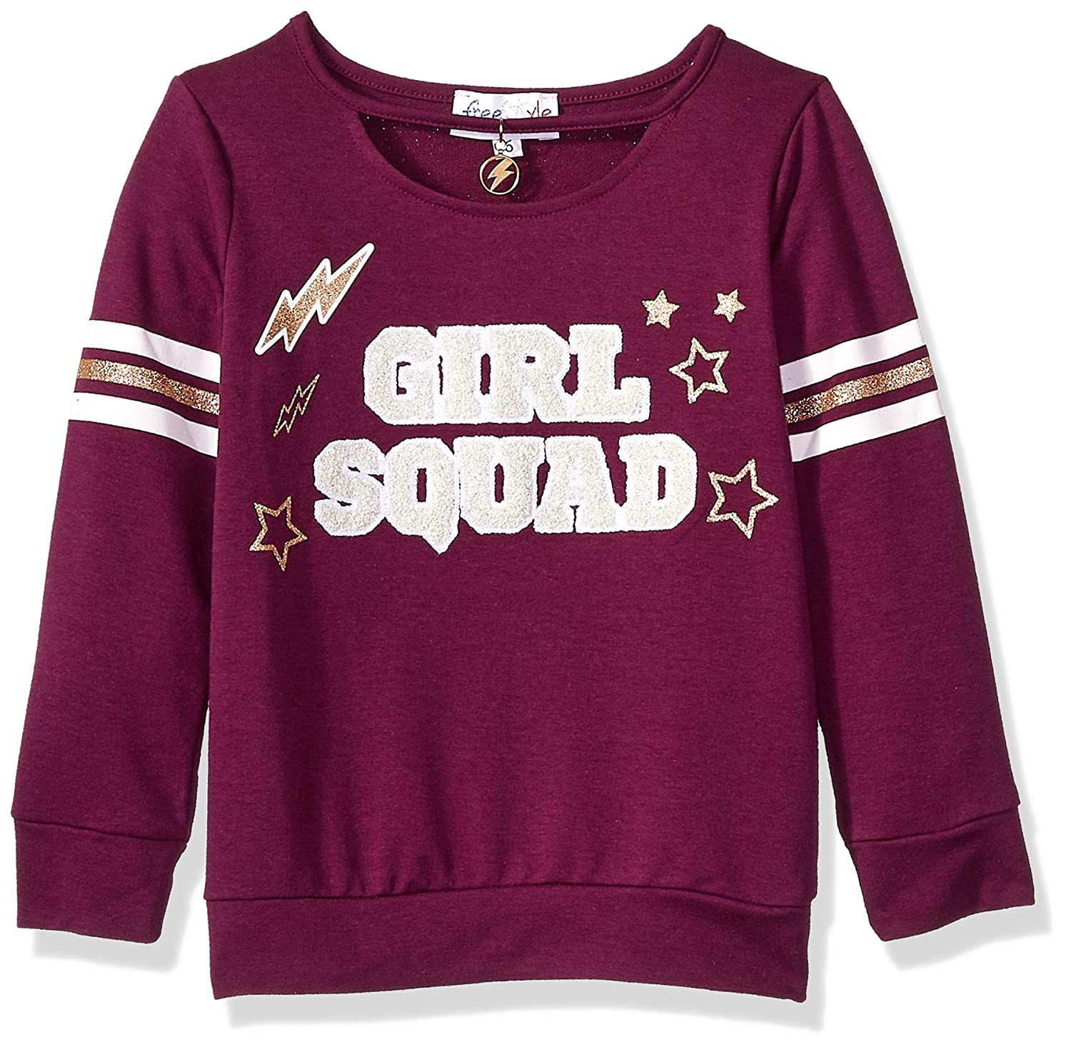 Freestyle Revolution Women's Little Girls' Fs4-54375-girl Squad French Terry Sweatshirt