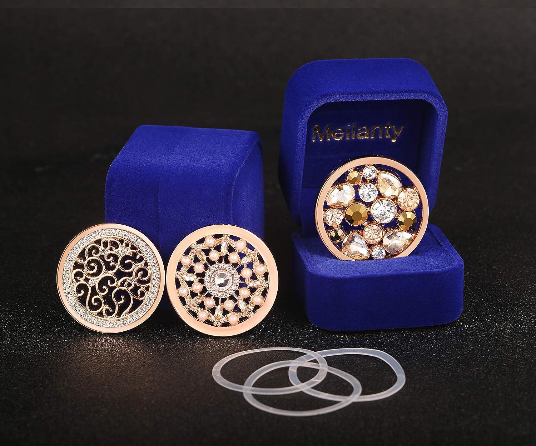 Meilanty 3 Coin 33mm Anh/änger Damen Edelstahl Halskette