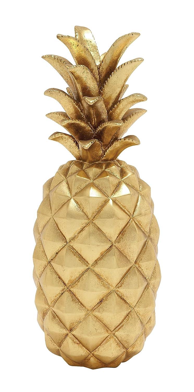 Amazon.com: Deco 79 62361 Poly Stone Gold Pineapple Home Decor ...